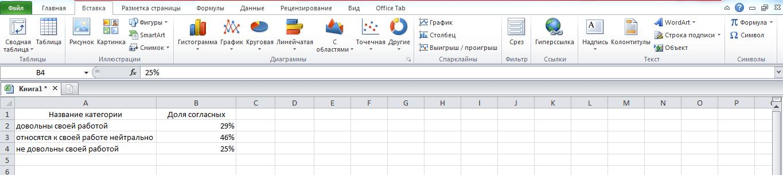 Составляем таблицу в Excel